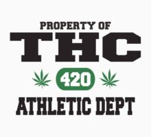 Marijuana THC Athletic Dept by MarijuanaTshirt