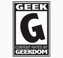 Rated G for Geek (Black) by trekvix