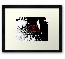 Wondering about Life Framed Print