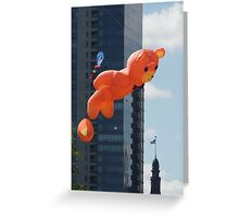 Flying Bear Watches Over City of Milwaukee Greeting Card