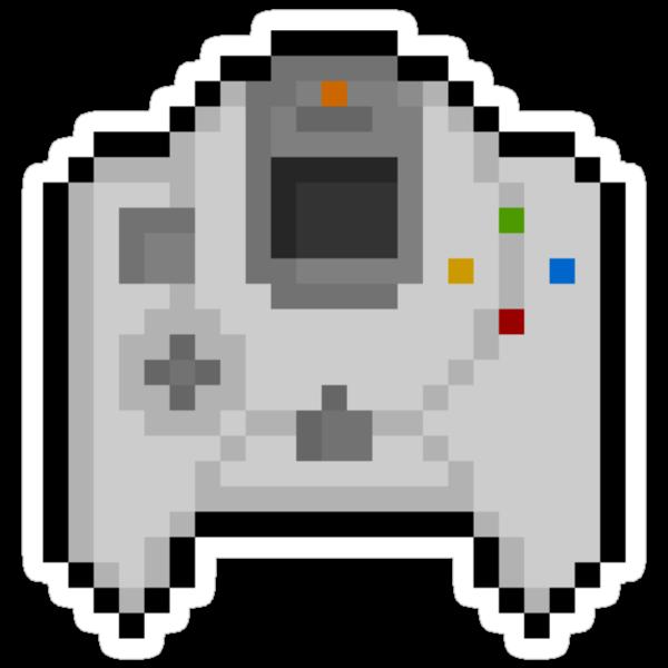 Pixel Dreamcast Controller Sticker by PixelBlock