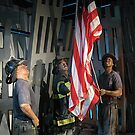 Raising The Flag At Ground Zero, Wax Figures Representation by Jane Neill-Hancock