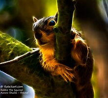 Awww Shucks - Robbie The Squirrel - Fractal by Rateitart