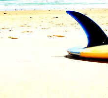 Blue Single Fin by Mark Piovesan