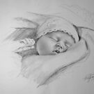 Baby Drawing by Felicity Deverell