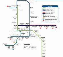 Bangkok Metro Map by boy8293