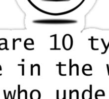 Binary? Sticker