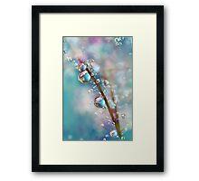 Rainbow Blue Smokey Drops Framed Print