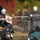 Medieval Magic - Jousting on Target by Chris  Randall