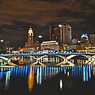 Columbus skyline at night - Columbus, Ohio by michael6076