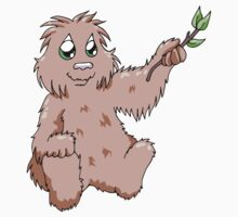 Happy Bigfoot with Branch by hybridwing