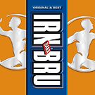 Irn Bru iPhone Case by gezzamondo
