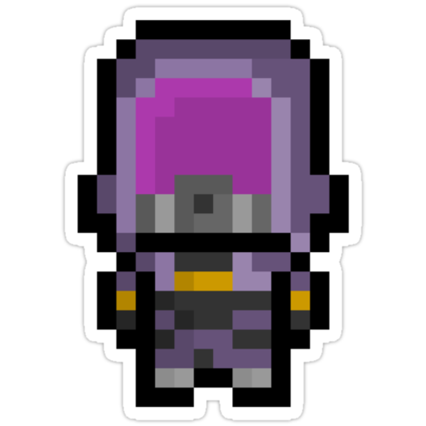 Pixel Tali'Zorah Vas Normandy Sticker by PixelBlock
