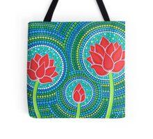Lotus Family of Three Tote Bag