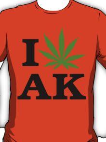 I Love Alaska Marijuana Cannabis Weed T-Shirt T-Shirt
