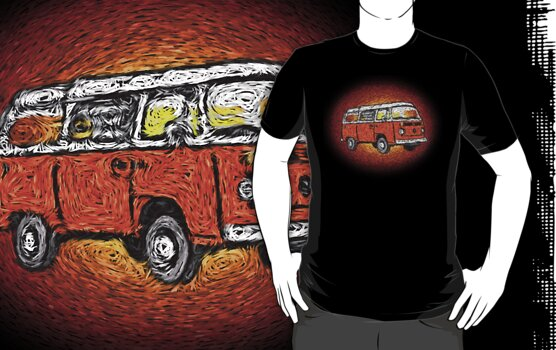 Camper Van Go Sunset by Ra12