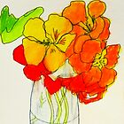 sweet Nasturtiums by donnamalone