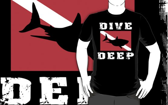 SCUBA Flag Shark by SportsT-Shirts