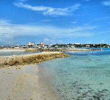 View of Paradise Island from Fort Montagu in Nassau, The Bahamas by 242Digital
