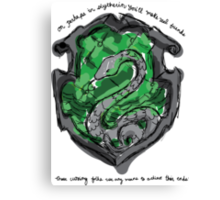 Slytherin Canvas Print
