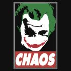 Chaos Pop Art - The Joker (inspired by Obey)  by LamericaTees