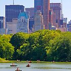 New York City Central Park with Manhattan by Zoltán Duray