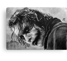 The joker - Batman - Dark Knight - Heath Ledger Canvas Print