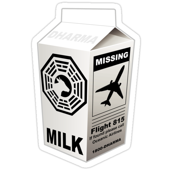 Lost - Dharma Initiative Milk Carton by metacortex