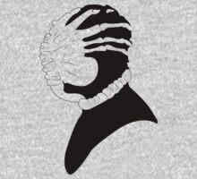Alien Facehugger Silhouette by Luc Kersten