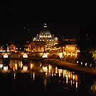 St Peter's, Rome, at Night by Claire Elford