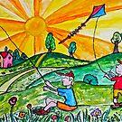 Kite Flying by Monica Engeler
