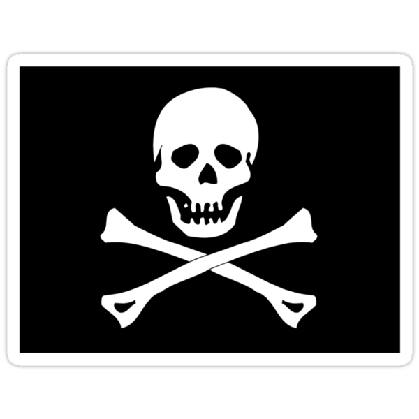 Skull And Crossbones Black Pirate Flag by SportsT-Shirts