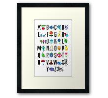 Alphabet Cute  Framed Print
