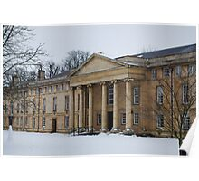 Downing College in Snow Poster