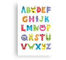 Alphabet Monsters poster Canvas Print