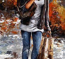 Rainy day - Woman of New York /06 by Imre Toth (Emerico)
