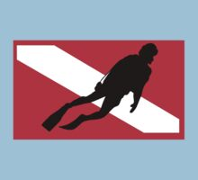 Scuba Diver Down Flag by SportsT-Shirts
