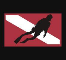 Scuba Diver Down Flag Kids Clothes