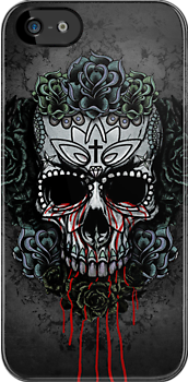 Candy Skull Design 5 by Aaron Pacey