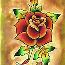 Tattoo Rose Watercolor #1 by GoGiGiGogh