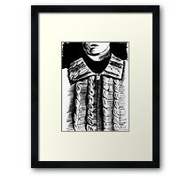 the cardigan of the artist Framed Print