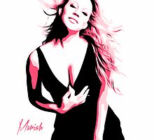 Mariah Carey - Pink - Pop Art by wcsmack
