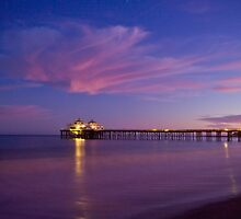 Malibu Pier at Blue Hour by makingimages