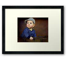 """"""" Parker , 7 months old """" Framed Print"""