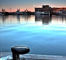 Early Morning Calpe Harbor. by SaschaBolten
