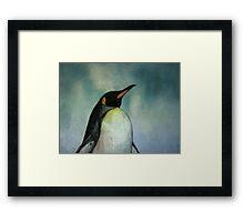 Heck no, my feet aren't happy! (Penguine) Framed Print