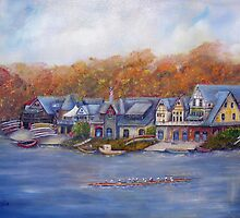 Boathouse Row In Philadelphia by Loretta Luglio