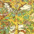 Vintage Disneyland Map Main Street USA by tylersmithh