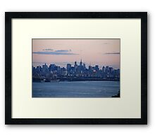 Manhattan Sunset Framed Print