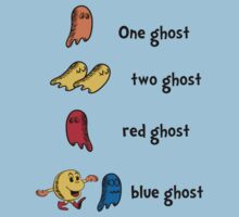 One Ghost, Two Ghost, Red Ghost, Blue Ghost Kids Clothes